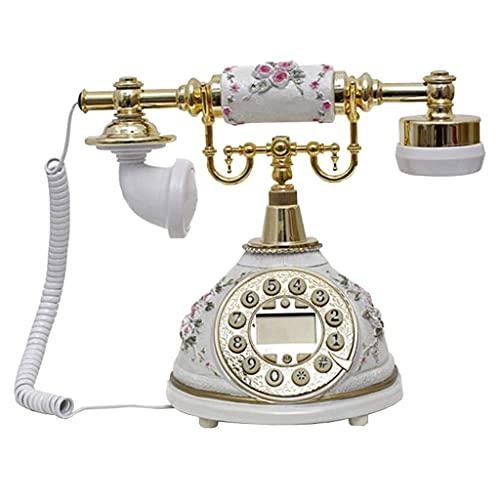 HAOJON Telefono Antico Vintage retrò Vecchio Stile con quadrante a Pulsante per Decorazioni per la casa