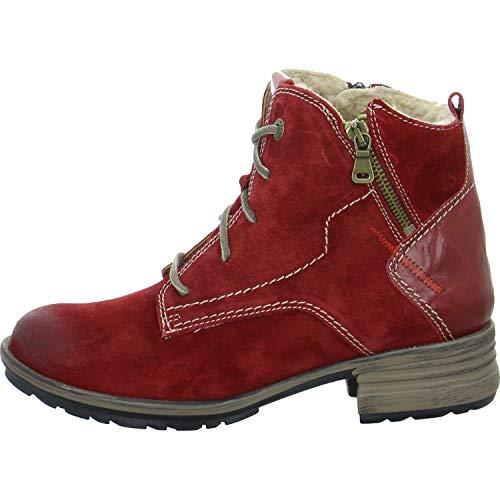 Josef Seibel Sandra 75 Stiefel in Übergrößen Rot 93897 PL949 400 große Damenschuhe, Größe:44
