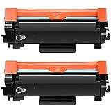 AXAX 2 cartuchos de tóner compatibles con Brother TN760, repuesto para Brother HL-L2350DW, 2390DW, 2395DW, 2370DW, DCP-L2550DW, MFC-2710DW, 2750DW, 2370DWXL, 2750DWXL, 2750DWXL, color negro