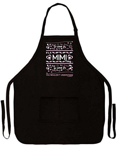 Mother 's Day Geschenk IT 'S A Mimi, was Sie nicht verstehen Funny Schürze für Küche BBQ Kochen Backen, Garten-Zwei Pocket Schürze für tolle Oma oder Mom schwarz