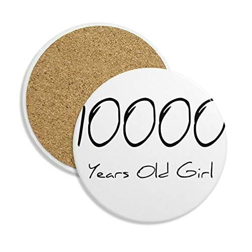 DIYthinker 10000 jaar oud meisje leeftijd keramische onderzetter Cup mok houder absorberende steen voor dranken 2 stks Gift