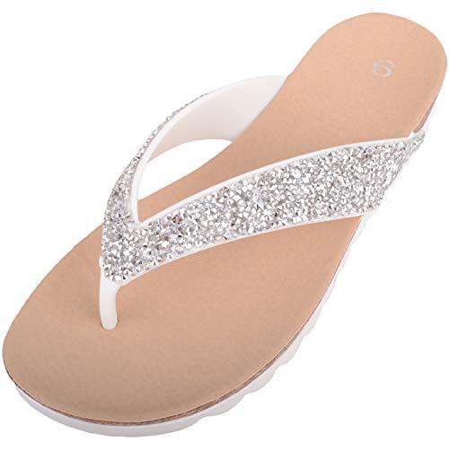 Womens Slip Op Zomer/Vakantie Juweel Encrusted Flip Flops/Sandalen/Schoenen