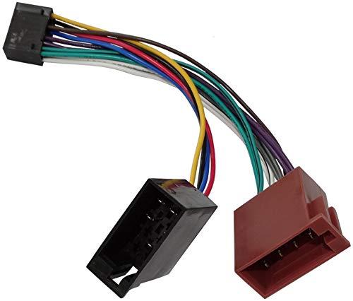 AERZETIX -C1934 - Cavo Adattatore convertitore per Radio con connettore ISO, per autoradio KDC