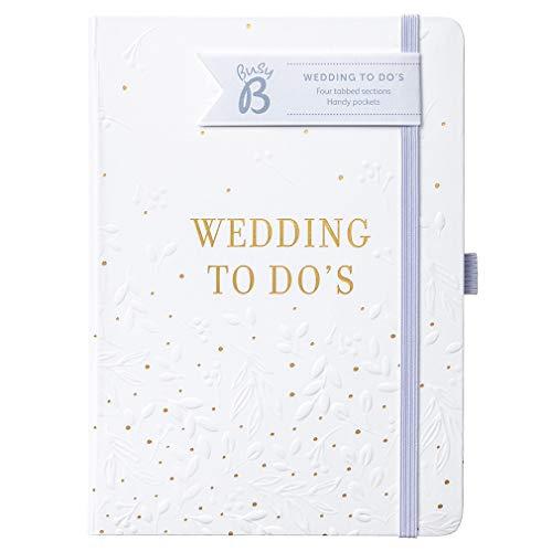 Libro di nozze To Do Busy B - Organizzatore di matrimoni in bianco e oro in formato A5
