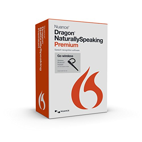 Price comparison product image Nuance Dragon NaturallySpeaking Premium 13.0 with Dragon Bluetooth Wireless Headset (Discontinued)