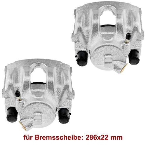 2x Bremssattel Bremszange vorne Vorderachse rechts links Bremsscheibendicke: 22 mm belüftete Bremsscheibe