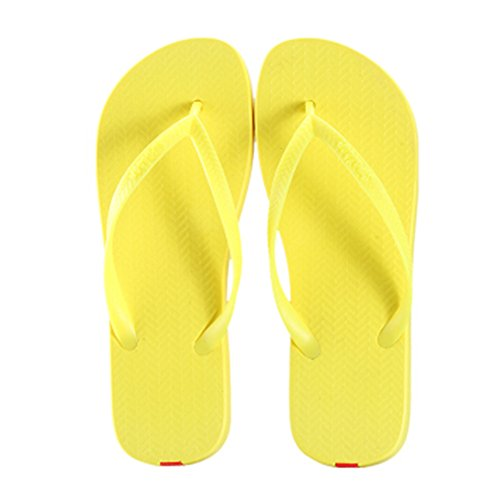 Casual Tongs Unisexe Plage Chaussons Anti-Slip Maison Slipper Sandals Rouge
