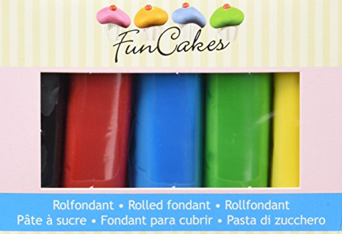 FunCakes Rollfondant Multipack Essential Colours, 500 g