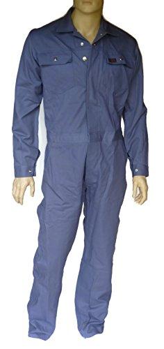 Rofa Herren Overall, Arbeitsoverall mit Zollstockstasche, Dreinaht verstärkt, einlaufsicher, lichtecht, waschecht 95° Wäsche, Arbeitskombi mit 9 Taschen, Arbeitskleidung grau (102)