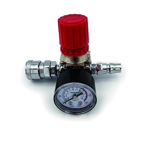 Válvula de control del interruptor del regulador de presión de 1 PC 180PSI de 12 barras con medidores 1/4'para el compresor de aire