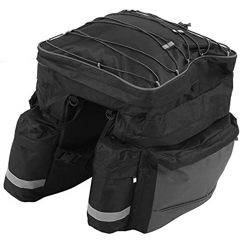 Semiter Bicycle Bag, Cycling Rack Bag, Nylon Cloth Strong and Durable Fine Workmanship for Long‑distance Travel Bike Bag