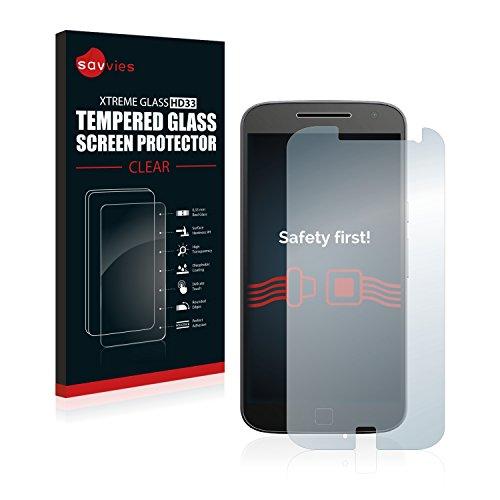 savvies Protector Cristal Templado Compatible con Lenovo Moto G4 Plus Protector Pantalla...