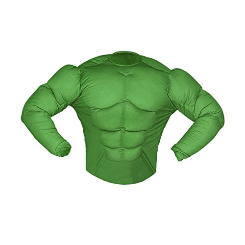 Amakando Superhelden Kinderkostüm Muskelkostüm Monster 128 cm 5-7 Jahre Comic Superheldenkostüm grün Hulk Kostüm Karnevalskostüme Kinder Jungen Superheld Halloween Verkleidung Sixpack Muskel Shirt