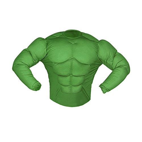 Amakando Superhelden Kinderkostüm Muskelkostüm Monster 158 cm 11-13 Jahre Comic Superheldenkostüm grün Hulk Kostüm Karnevalskostüme Kinder Jungen Superheld Halloween Verkleidung Sixpack Muskel Shirt