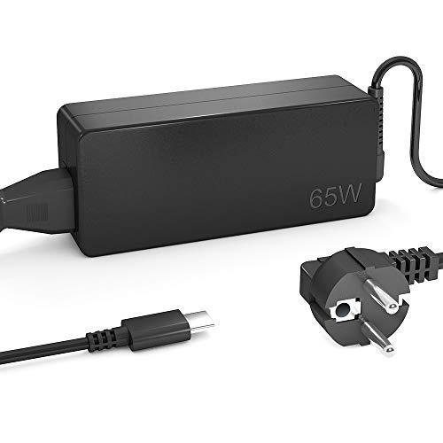 QYD 65W USB Type-C PD Cargador Tipo C Adaptador para Ordenador Portatil Lenovo ThinkPad X1 Tablet T470 T470s T570 T480 T480s E580 E485 ThinkPad X1 Carbon 5th Gen 20HQ 20HR Notebook Alimentador