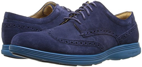 Cole Haan Men's Grand Tour Wing Ox Oxford, Marine Blue Suede/Seaport, 10 M US