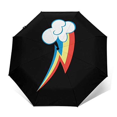 Rainbow Dash Windproof Automatic Open And Close Folding Umbrella Travel Lightweight Outdoor Umbrella Rain And Sun
