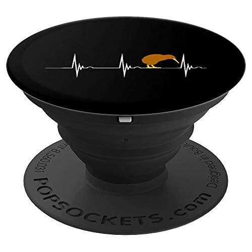 Kiwi Vogel Kiwivogel Herzschlag EKG Puls Neuseeland - PopSockets Ausziehbarer Sockel und Griff für Smartphones und Tablets