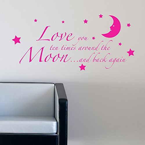 LOVE YOU TO THE MOON AND BACK AGAIN KIDS NURSERY WALL STICKER. Words/QuotesStickers muraux/stickers muraux de mur/transferts / stickers muraux