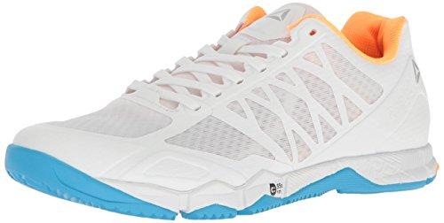 Reebok Women's CROSSFIT Speed Tr Cross-Trainer Shoe,White/Black/Blue Beam/Fire Spark/Pure Silver,5 M...