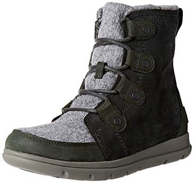 Sorel - Women's Explorer Joan Waterproof Insulated Winter Boot, Coal, 7.5 M US