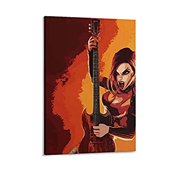 Nibao Gorgeous Game Poster-Guitar Hero3 Canvas Art Poster and Wall Art Picture Print Modern Family Bedroom Decor Posters 08×12inch 20×30cm