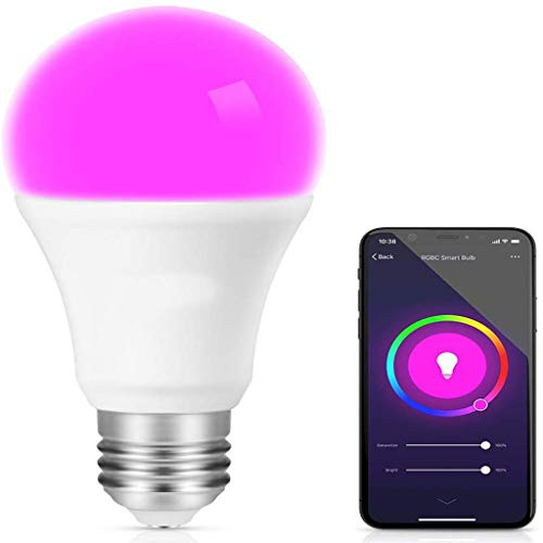 Wifi-lamp licht RGB kleurrijke kleurverandering LED-verlichting lamp voice control afstandsbediening slimme lichte full colour verstelbare