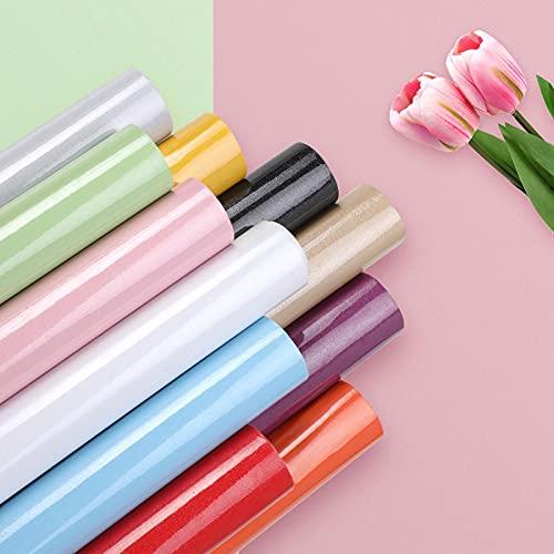 KINLO Türaufkleber klebefolie Küchefolie Rosa 60x500cm MIT GLITZER möbelfolie aus hochwertigem PVC Aufkleber für Schrank Tapeten wasserfest selbstklebende Folie Küchenschrank Dekofolie