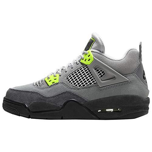 Nike Kids Jordan Retro 4 Se 95 Neon Basketball Shoes (3.5)