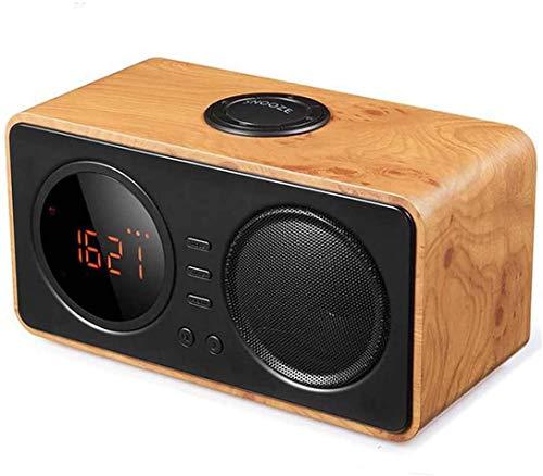 NANYUN Radio Alarm Klok, Gemakkelijk Snooze, FM Radio, Groot LCD Display, Dimmer, Temperatuur, Draadloze Bluetooth Mini LED Alarm Klok Luidspreker Digitale Display Klok