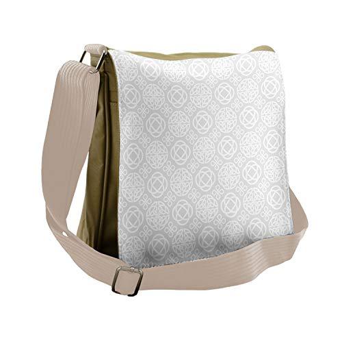 Ambesonne Celtic Messenger Bag, Tribal Knots Boho Irish, Unisex Cross-body