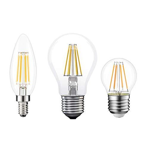 GAOword Bulbos incandescentes, Bombillas de filamento de Edison, lámpara de Vela Vintage, lámpara LED E27 E14 LED 220V E27 B22 230V,Warm White,ST64 E27