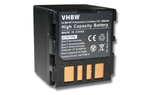 vhbw batería 1200mAh (7.2V) para videocámara JVC BN-VF714, BN-VF714U, BN-VF707, BN-VF707U, BN-VF733, BN-VF733U.