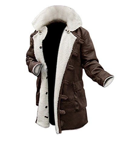 F_Gotal Mens Jackets, Men's Fashion Faux Fur Trench Coat Jacket Parka Thicker Warm Long Outwear Cardigan …