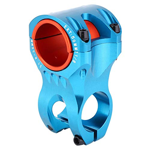 Taidda- T Best Bike Handlebar Stem, Aluminium Alloy 35mm High Strength Bicycle Short Handlebar Stem Bike Cycling Accessory for Mountain Bike Road Bike(1.57x1.97 inch-Blue)
