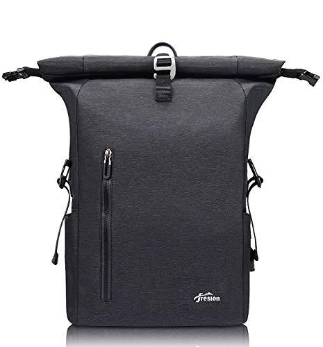 Rolltop Rucksack Damen Schulrucksack 35L - Anti Theft Reiserucksack mit USB/Laptop Rucksack 15,6-17 Zoll für Männer und Frauen Wasserdichter Fahrradrucksack Diebstahlsicherung Tagesrucksack für Reisen