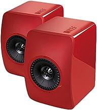 KEF LS50 Rojo Altavoz - Altavoces (De 2 vías, Alámbrico, 47-45000 Hz, 8 Ω, Rojo)