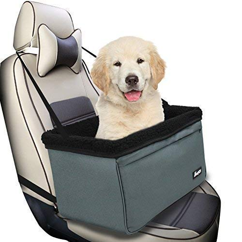Jespet Dog Booster Seats for Cars, Portable Dog Car Seat Travel Carrier with Seat Belt for 24lbs Pets, Upgrades.