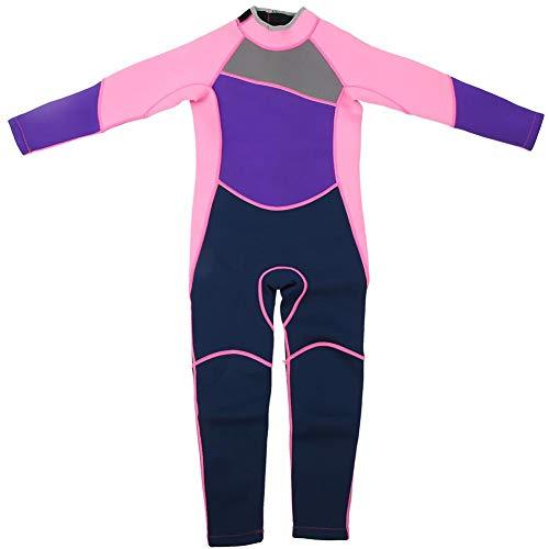 Vbest life Tauch-Neoprenanzug für Mädchen, Neopren-Langarm-Kinderschnorchel-Surfanzug Warm Keep Children Diving Suit(8 Size(M))
