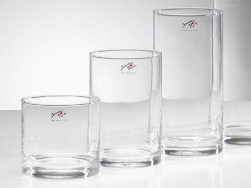 Glasvase Cyli klar zylindrisch 1 Stück 20 cm Ø 10 cm hot cut von Sandra Rich