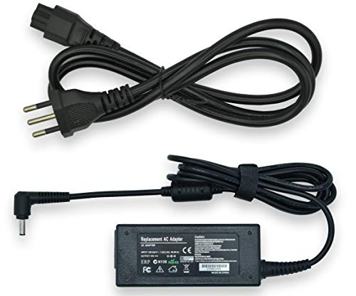 New Net Alimentatore Caricabatteria Compatibile con ASUS VivoBook S200E X200CA X202E X553M X200LA X453MA X553MA R515MA F553M F553MA X553M D553M F553M P553 P553M P553MA [19V 1.75A 33W - 4.0 X 1.35 mm]