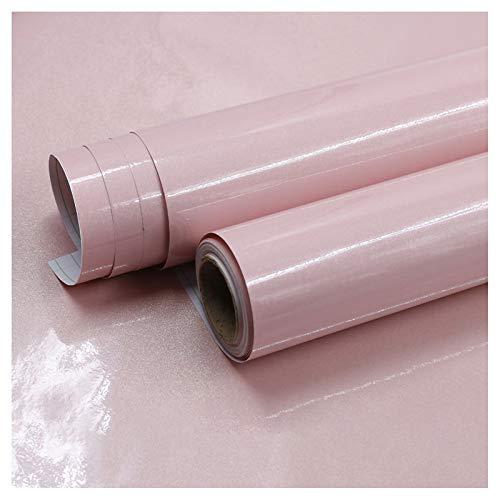 bandezid Vinilo Pegatina Muebles de Cocina Rollo Autoadhesivo Impermeable Vinilo Adhesivo PVC Decoración para Decorar y Proteger Pegatina-Rosa Perlado 60cm*10m