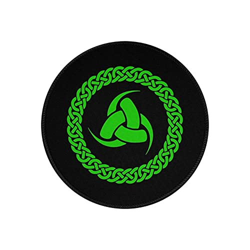 Celtic Odin's Horn Mouse Pads Non-Slip Gaming Office Mouse Pad Round Mouse Pad