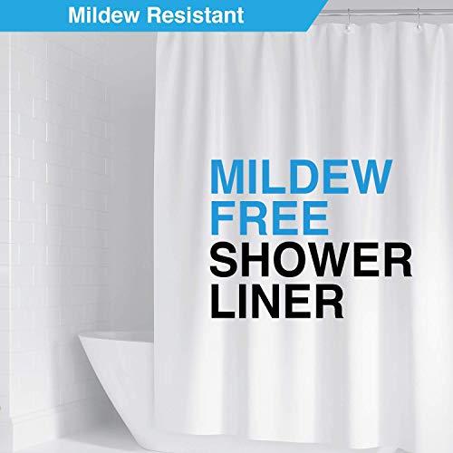 LiBa PEVA 8G Shower Curtain Liner, 72