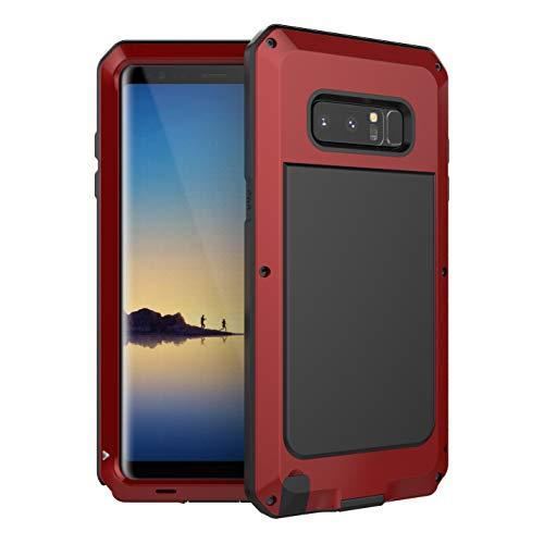 Beeasy Samsung Galaxy Note 8 Hülle,360 Grad Fallschutz Handyhülle Outdoor Hülle Hybrid Rüstung Schlagfest Stoßfest Schutzhülle Robust Cover Tough Armor Doppelte Schutzschicht Heavy Duty Kratzfest,Rot