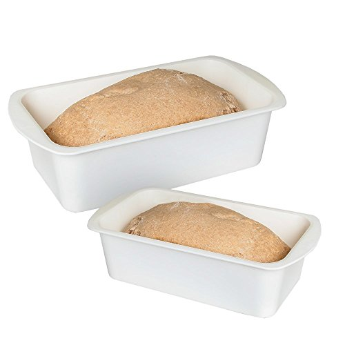 Home-X Microwave Loaf Cake Pan Non-Stick Baking Mould Perfect for Cake Microwave Dishwasher Safe Set of 2 Includes 2 Sizes