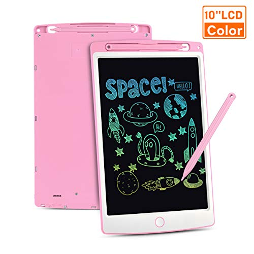 LCD Writing Tablet, 10 Inch Colorful Screen Digital eWriter Electronic Graphics Tablet Portable Writing Board Handwriting Doodle Drawing Pad Message Memo Board for Kids Adult Home School Office