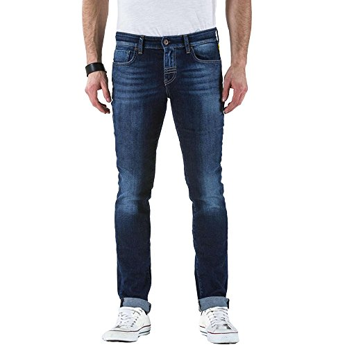Meltin'Pot - Jeans Misfits D0120-UK108 per Uomo, Modello Skinny, vestibilità Skinny, Vita Bassa