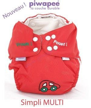 Piwapee - Piwapee - simpli multi 8-13 kg voiture rouge