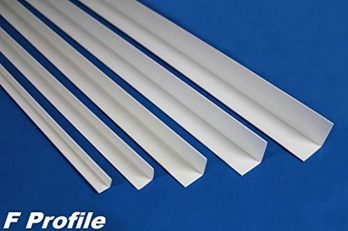 2 Meter | Winkelleiste | PVC | Kunststoff | Effector | 15x15mm | F14